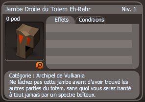 jambe droite du totem eh rehr
