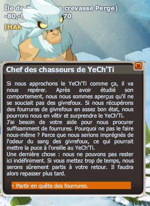 quete L'abominable YeCh'Ti dofus