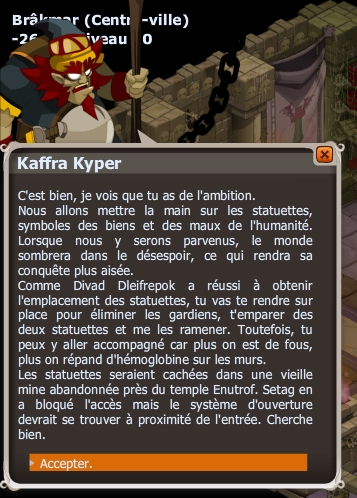 Apprentissage : Chevalier du Désespoir dofus