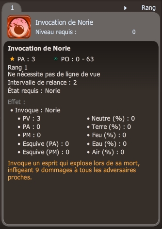 invocation de norie