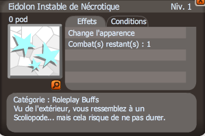 eidolon instable de nécrotique