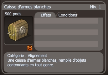 caisse d'armes blanches