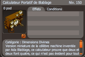 calculateur portatif de blablage